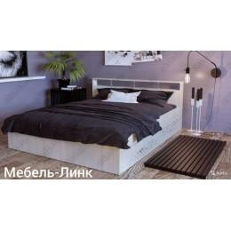 Кровать Саломея 1,6 м белая с ящиками
