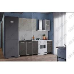 Кухня Радуга бетон темный/светлый 1,5 м