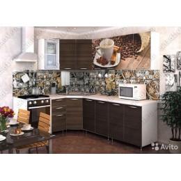Кухня Кофе/венге угловая 3,7 м (2,45*1,25 м)