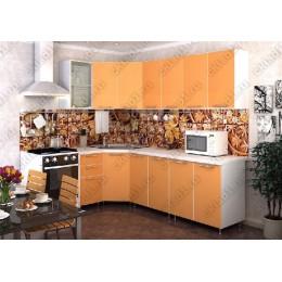 Кухня Радуга Оранж угловая 3,7 м (2,45*1,25 м)