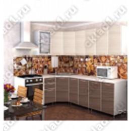 Кухня Радуга Шимо темный/светлый угловая 3,7 м (2,45*1,25 м)