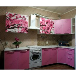 Кухня Сакура/каприче угловая 3,7 м (2,45*1,25 м)