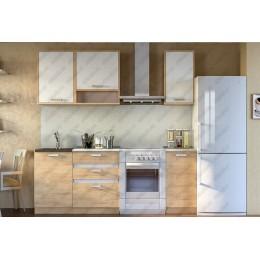 Кухня Лотос белый/сонома 1,5 м