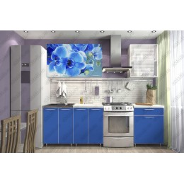 Кухня ЛДСП Орхидея синяя 1,8 м