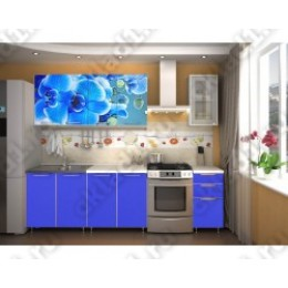 Кухня Орхидея - морская (синяя) 2,0м