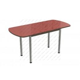 Стол раздвижной пластик Цветы красные
