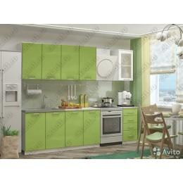 Кухня 2,0м МДФ без фотопечати (зел.-зел.)