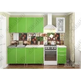 Кухня Радуга Зеленая мамба 2,0м